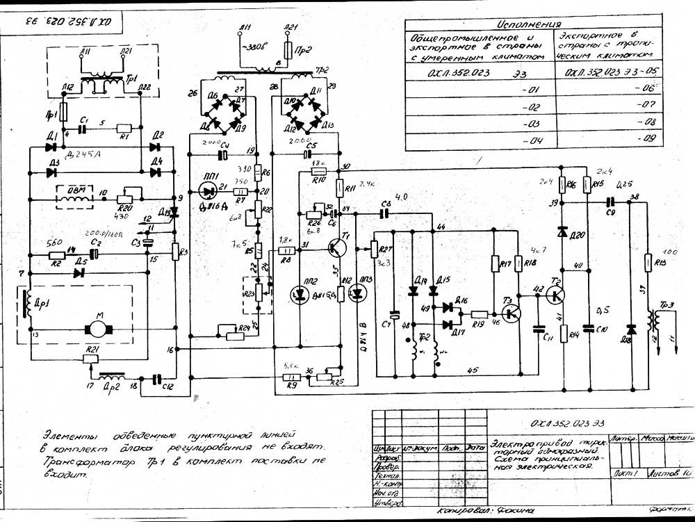 Структурная схема тиристорного электропривода4